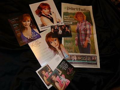 Reba McEntire *2017 Tennessean+Three Voter Postcards+Color 8x10+Candid Photo!