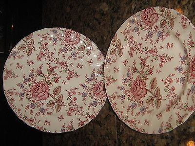 Vintage Johnson Bros Rose Chintz Salad Or Dessert Plates