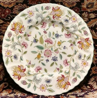 """Minton HADDON HALL green trim luncheon Plate  (multiple available) 9"""""""