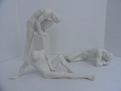 NUDE Male Porcelain Figurines Lot Of 3 NIB