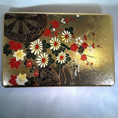 """Vintage Japanese Red and Gold Gild Signed Box,  """"PERFECT"""".    Estate item"""