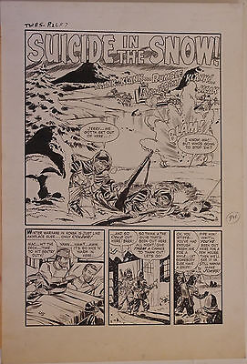 JOHN BELFI original art, TRUE WAR 5, pg 26 27 28 29 30, 1952, 5 pgs,It's Suicide