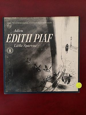 """Edith Piaf Adieu Little Sparrow 7"""" Reel To Reel Tape With Booklet"""