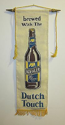 KOEHLER BEER Fabric  wall hanging DUTCH TOUCH 7x24 in ERIE beer company