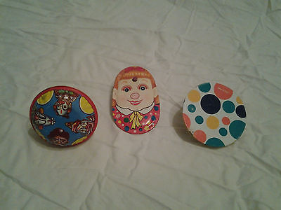 Vintage Tin Noise Makers lot of 3