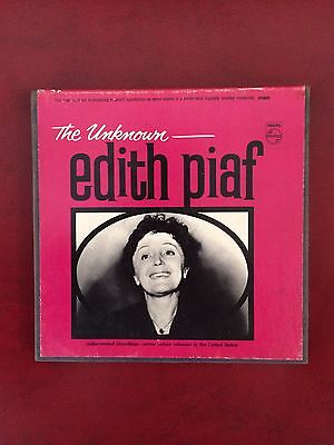 "The Unknown Edith Piaf Reel To Reel 7"" Tape Box"