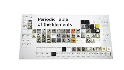 Display case for 10mm Density Cubes Acrylic Elements Collection