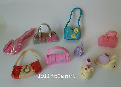 MY SCENE BARBIE DOLL ACCESSORIES LOT - Bunny Slippers Purses Hand Bags