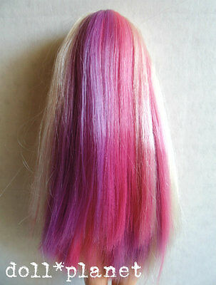 Mackie face BARBIE DOLL nude articulated pink hair color change 4 OOAK play #3