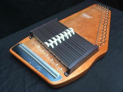 Vintage Autoharp by Oscar Schmidt 15 chord 36 strings with Case, Key, and Book
