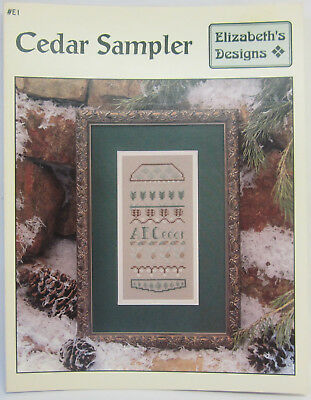 Cedar Sampler Elizabeth's Design Counted Cross Stitch Instruction & Pattern Book