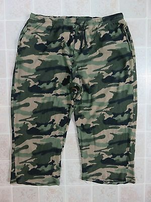 CAMO Flannel LOUNGE PANTS Mens XXL With Pockets Hunting Outdoors Camouflage 2XL