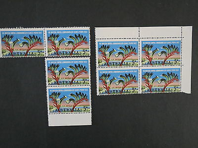 1962 Block X 2-4 Each Commonwealth Games 5D Mint Unhinged Mnh Australia Stamp