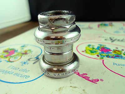 Vintage Chrome Steel Campagnolo Record Strada Headset English Thread l'Eroica