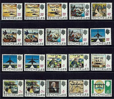 Seychelles  1976 Independence Qeii Visit.mixed Lot....mint Unhinged