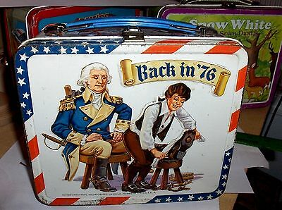 Back In 76..1975`Aladdin Industries Inc.Bicentennial Metal Lunchbox->Free To US
