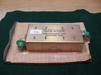 Bird 241-0365-00 400 MHz Low Pass Filter - BNC - New!