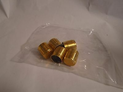 New 5 Pcs Gold Tone 6Mm Knurling Shaft Insert Dia. Potentiometer Control Knobs