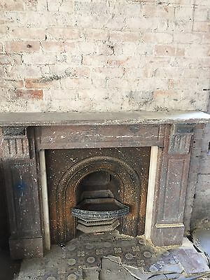 Cast Iron Fireplace Including Marble Surround