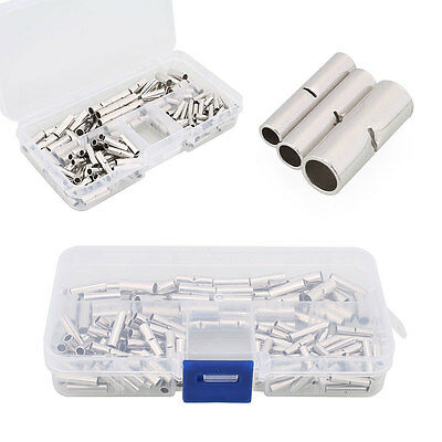 150Pcs Ferrule Wire Cable Crimp Rolled Terminals Butt Connector Kit Set Silver