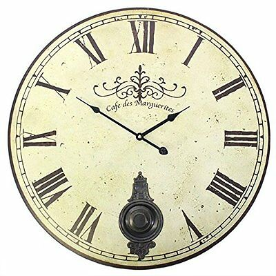 Extra Large Shabby Chic French Antique Vintage Style Wall Clock - Perfect for or