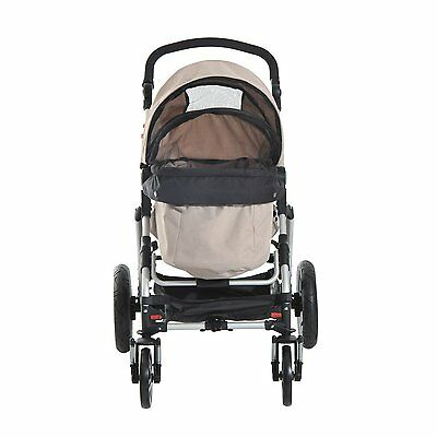 Dog Pet Carrier Portable Hard-sided Puppy Travel Stroller with Foldable Handle