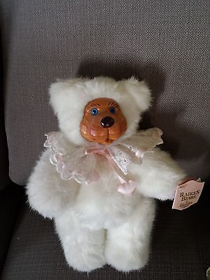 "Vtg 1989 Robert Raikes Blue Eyes ""sophie"" Jointed Articulated Plush Bear~W/ Tags"
