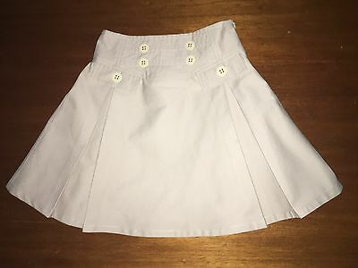 Classic Burberry Pleated Skirt Size Girls 8 Yrs/128 cm Beige  EXC COND Free Post
