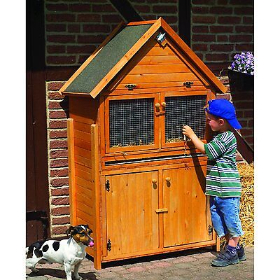 Rabbit Hutch New Hard-sided Stable Rabbit Weatherproof Wooden House Honey Brown