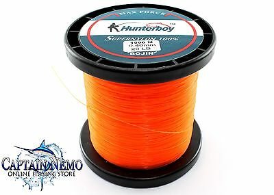 Hunterboy Maxforce Super Nylon Fishing Line 1000M 20Lb Monofilament Hb201000Or