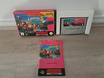 Donkey Kong Country 3 Super Nintendo SNES Boxed PAL  *Complete*