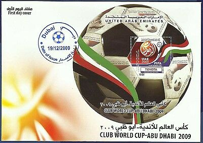 Uae Mnh 2009 Fdc First Day Cover Club World Cup Abu Dhabi Games Sports