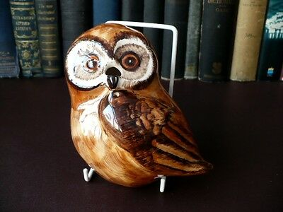 Vintage Babbacombe Pottery Owl String Holder & Scissors Holder -Philip Laureston