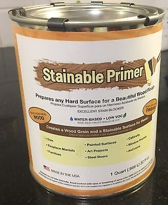 Stainable Primer SPQT Real Wood Base Coat For Hard Surfaces Quart
