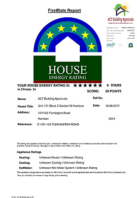 EER (Energy Efficiency Rating) Statement Sale of Class A Units (ACT Only)