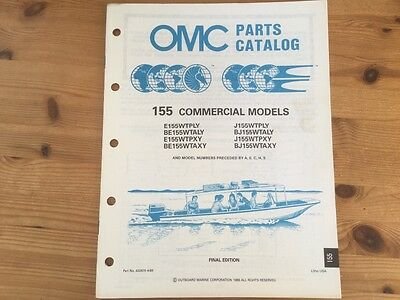 OMC Evinrude Johnson parts catalog (1990) - 155 hp commercial models