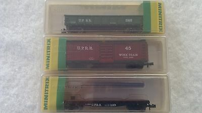 Minitrix 3 UPRR Carriages Model Trains N Scale