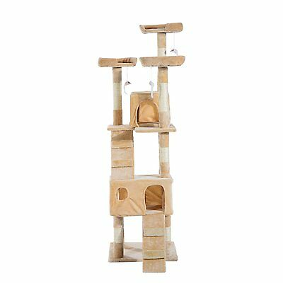 170cm Climbing Tower Activity Centre Cat Tree Scratching Post Resting Pet Condo