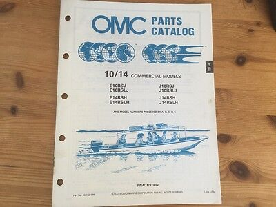 OMC Evinrude Johnson parts catalog (1990) - 25 hp commercial models
