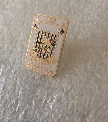 West Bromwich Albion  Supporter Enamel Badge  - Very Rare! Ace Of Clubs 1990's