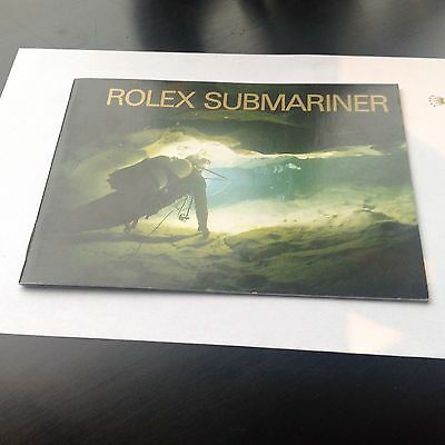 Vintage Rolex Submariner Seadweller Booklet 1991 Deutsch 16610 16613 16600 14060