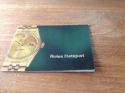 Vintage Rolex Datejust Booklet 1977 16018 16019 16013 16253