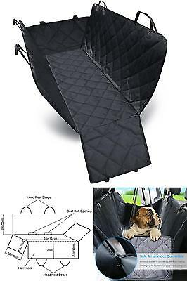Dog Seat Cover Car For Pets Hammock 600D Heavy Duty Waterproof With Side Flaps