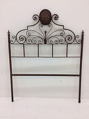 Wrought Iron Bed Head Vintage Antique Country Single