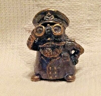 Russian Сollectible Decorative Brass Thimble Captain of a ship with binoculars