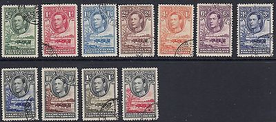 1938 Bechuanaland King George VI. Set. Used