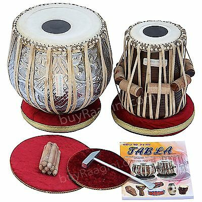 Concert Designer Tabla Drum Set, 4½ Kg Copper Bayan,Finest Dayan with Padded Bag