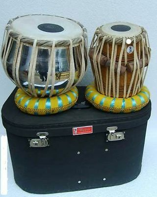 Tabla Drum Chopra Pro Brass Bayan Nickel Wood Dayan Ring+Hammer+Box Free!