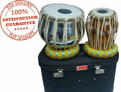 Christmas Sale Tabla Set Nickel Brass Bayan Wood Dayan Ring+Hammer+Box Free