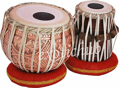Designer Copper Tabla Drums~Can Play With Sitar, Harmonium~Hammer/cushion/cover